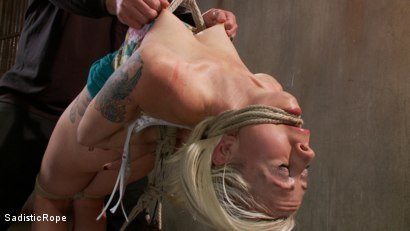 Photo number 1 from <strong>Destroying Lorelei Lee!!</strong><br> Inverted Sybian Suspension Blows her Mind shot for Sadistic Rope on Kink.com. Featuring Lorelei Lee in hardcore BDSM & Fetish porn.