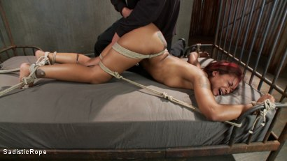 Photo number 8 from Skin Diamond's Suffering, The Pope's Satisfaction! shot for Sadistic Rope on Kink.com. Featuring Skin Diamond in hardcore BDSM & Fetish porn.