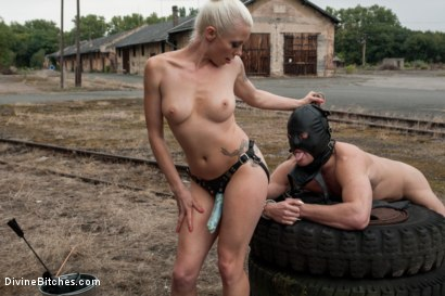 Photo number 5 from Eastern European Expeditions # 2: Teased and Denied Euro Slave Cock shot for Divine Bitches on Kink.com. Featuring Lorelei Lee and Ivo in hardcore BDSM & Fetish porn.