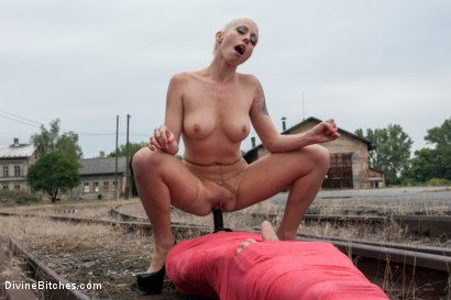Photo number 8 from Eastern European Expeditions # 2: Teased and Denied Euro Slave Cock shot for Divine Bitches on Kink.com. Featuring Lorelei Lee and Ivo in hardcore BDSM & Fetish porn.