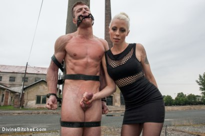 Photo number 3 from Eastern European Expeditions # 2: Teased and Denied Euro Slave Cock shot for Divine Bitches on Kink.com. Featuring Lorelei Lee and Ivo in hardcore BDSM & Fetish porn.