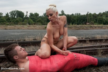 Photo number 9 from Eastern European Expeditions # 2: Teased and Denied Euro Slave Cock shot for Divine Bitches on Kink.com. Featuring Lorelei Lee and Ivo in hardcore BDSM & Fetish porn.