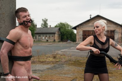 Photo number 2 from Eastern European Expeditions # 2: Teased and Denied Euro Slave Cock shot for Divine Bitches on Kink.com. Featuring Lorelei Lee and Ivo in hardcore BDSM & Fetish porn.