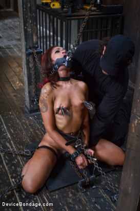 Photo number 15 from Rising from the ash <br>Skin Diamond is fucked brutal bondage!! shot for Device Bondage on Kink.com. Featuring Skin Diamond and Orlando in hardcore BDSM & Fetish porn.