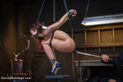 Photo number 11 from Rising from the ash <br>Skin Diamond is fucked brutal bondage!! shot for Device Bondage on Kink.com. Featuring Skin Diamond and Orlando in hardcore BDSM & Fetish porn.