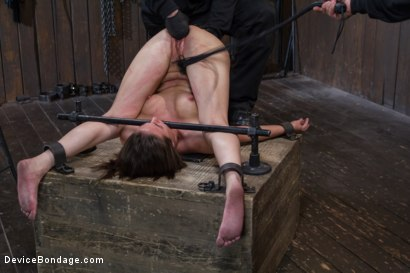 Photo number 14 from Double Teamed-Extreme Bondage,Brutal Suffering, and Squirting Orgasms shot for Device Bondage on Kink.com. Featuring Orlando and Casey Calvert in hardcore BDSM & Fetish porn.