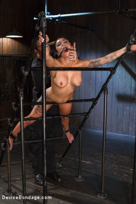 Photo number 14 from Wipe that smile off of your face, whore! shot for Device Bondage on Kink.com. Featuring Alexa Aimes in hardcore BDSM & Fetish porn.