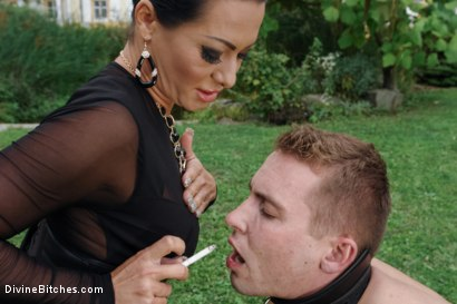 Photo number 9 from Garden of Submission: Sandra Romain Returns! shot for Divine Bitches on Kink.com. Featuring Sandra Romain and Martin Love in hardcore BDSM & Fetish porn.