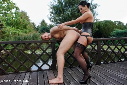 Photo number 10 from Garden of Submission: Sandra Romain Returns! shot for Divine Bitches on Kink.com. Featuring Sandra Romain and Martin Love in hardcore BDSM & Fetish porn.