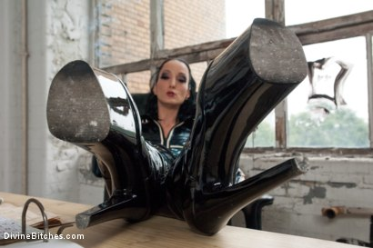 Photo number 1 from Introducing The FemDom Factory in Berlin and the Debut of Fetish Liza! shot for Divine Bitches on Kink.com. Featuring Fetish Liza and Enzo Bloom in hardcore BDSM & Fetish porn.
