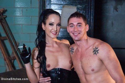 Photo number 7 from Introducing The FemDom Factory in Berlin and the Debut of Fetish Liza! shot for Divine Bitches on Kink.com. Featuring Fetish Liza and Enzo Bloom in hardcore BDSM & Fetish porn.