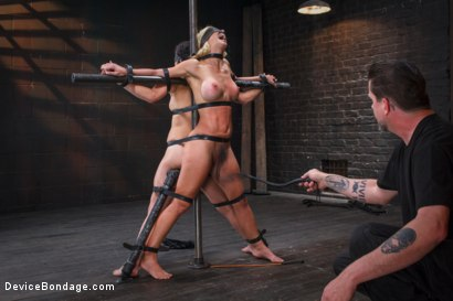Photo number 9 from 1 MILF + 1 Pain Slut = 2 Whores Suffering shot for Device Bondage on Kink.com. Featuring Cherie DeVille and Juliette March in hardcore BDSM & Fetish porn.