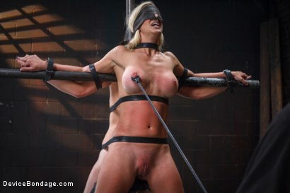 Photo number 10 from 1 MILF + 1 Pain Slut = 2 Whores Suffering shot for Device Bondage on Kink.com. Featuring Cherie DeVille and Juliette March in hardcore BDSM & Fetish porn.