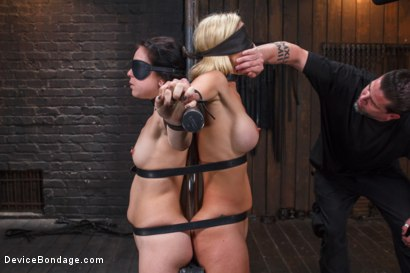 Photo number 15 from 1 MILF + 1 Pain Slut = 2 Whores Suffering shot for Device Bondage on Kink.com. Featuring Cherie DeVille and Juliette March in hardcore BDSM & Fetish porn.