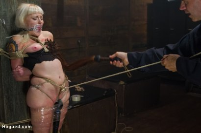 Photo number 3 from Twisted Tale of a Captive Creamer shot for Hogtied on Kink.com. Featuring Elyssa Greene in hardcore BDSM & Fetish porn.