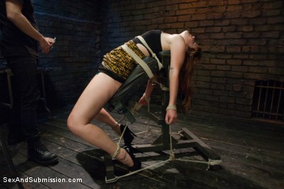 Photo number 2 from Broken Down Redhead Slut: Face Fucking and Anal Sex in Bondage! shot for Sex And Submission on Kink.com. Featuring Tommy Pistol and Claire Robbins in hardcore BDSM & Fetish porn.