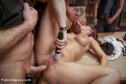 Photo number 9 from Dreamy MILF behaves herself like a perfect sub should. shot for Public Disgrace on Kink.com. Featuring Syren de Mer and John Strong in hardcore BDSM & Fetish porn.