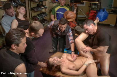 Photo number 12 from Dreamy MILF behaves herself like a perfect sub should. shot for Public Disgrace on Kink.com. Featuring Syren de Mer and John Strong in hardcore BDSM & Fetish porn.