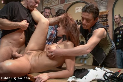 Photo number 14 from Dreamy MILF behaves herself like a perfect sub should. shot for Public Disgrace on Kink.com. Featuring Syren de Mer and John Strong in hardcore BDSM & Fetish porn.