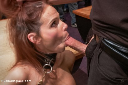 Photo number 1 from Dreamy MILF behaves herself like a perfect sub should. shot for Public Disgrace on Kink.com. Featuring Syren de Mer and John Strong in hardcore BDSM & Fetish porn.