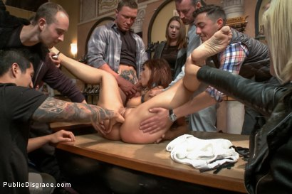 Photo number 4 from Dreamy MILF behaves herself like a perfect sub should. shot for Public Disgrace on Kink.com. Featuring Syren de Mer and John Strong in hardcore BDSM & Fetish porn.