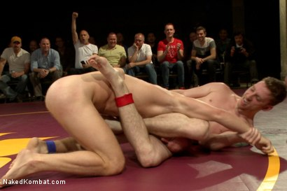 Photo number 3 from The Summer Smackdown Tournament Finale - Live Audience Tag Team Bout! shot for Naked Kombat on Kink.com. Featuring Leo Forte, Doug Acre, Randall O'Reilly and Sebastian Keys in hardcore BDSM & Fetish porn.