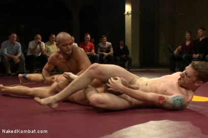 Photo number 6 from The Summer Smackdown Tournament Finale - Live Audience Tag Team Bout! shot for Naked Kombat on Kink.com. Featuring Leo Forte, Doug Acre, Randall O'Reilly and Sebastian Keys in hardcore BDSM & Fetish porn.