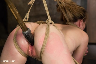 Photo number 13 from Horny 18 Year Old Slut Teased and Orgasmed in Tight Rope! shot for Hogtied on Kink.com. Featuring Jessie Parker in hardcore BDSM & Fetish porn.