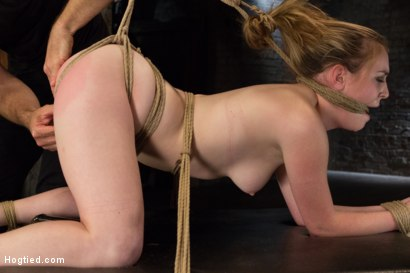 Photo number 12 from Horny 18 Year Old Slut Teased and Orgasmed in Tight Rope! shot for Hogtied on Kink.com. Featuring Jessie Parker in hardcore BDSM & Fetish porn.