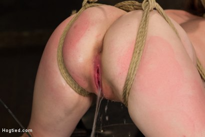 Photo number 14 from Horny 18 Year Old Slut Teased and Orgasmed in Tight Rope! shot for Hogtied on Kink.com. Featuring Jessie Parker in hardcore BDSM & Fetish porn.