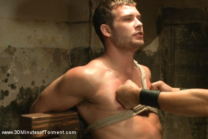 Photo number 5 from Hayden Richards vs The Chair & The Chair Won shot for 30 Minutes of Torment on Kink.com. Featuring Hayden Richards in hardcore BDSM & Fetish porn.