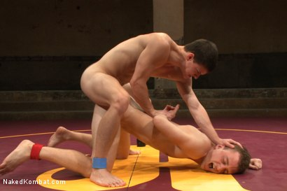 """Photo number 13 from Tyler """"The Terror"""" Sweet vs Holden """"The Fearless"""" Phillips shot for Naked Kombat on Kink.com. Featuring Tyler Sweet and Holden Phillips in hardcore BDSM & Fetish porn."""