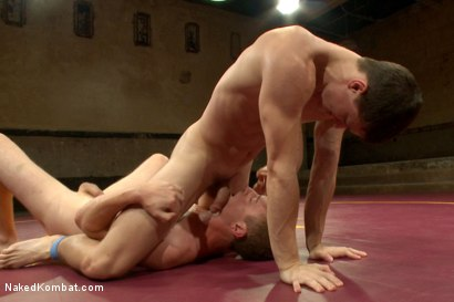 """Photo number 6 from Tyler """"The Terror"""" Sweet vs Holden """"The Fearless"""" Phillips shot for Naked Kombat on Kink.com. Featuring Tyler Sweet and Holden Phillips in hardcore BDSM & Fetish porn."""