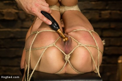 Photo number 11 from Horny Little Latin Fuck Overpowered by Orgasms and Bondage shot for Hogtied on Kink.com. Featuring Luna Light in hardcore BDSM & Fetish porn.