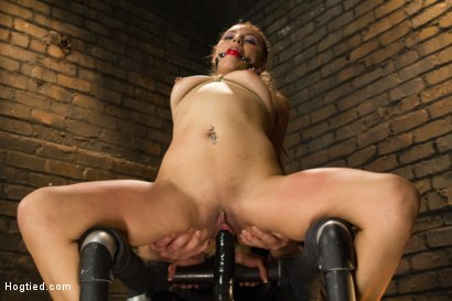 Photo number 13 from Horny Little Latin Fuck Overpowered by Orgasms and Bondage shot for Hogtied on Kink.com. Featuring Luna Light in hardcore BDSM & Fetish porn.