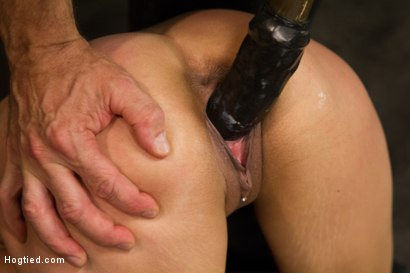 Photo number 4 from Horny Little Latin Fuck Overpowered by Orgasms and Bondage shot for Hogtied on Kink.com. Featuring Luna Light in hardcore BDSM & Fetish porn.