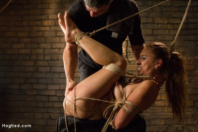 Photo number 10 from Horny Little Latin Fuck Overpowered by Orgasms and Bondage shot for Hogtied on Kink.com. Featuring Luna Light in hardcore BDSM & Fetish porn.