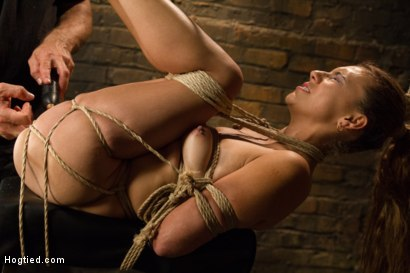 Photo number 12 from Horny Little Latin Fuck Overpowered by Orgasms and Bondage shot for Hogtied on Kink.com. Featuring Luna Light in hardcore BDSM & Fetish porn.