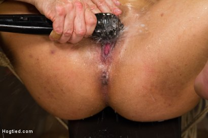 Photo number 14 from Unfuckingbelievable Soaking Wet Squirting Snatch and Huge Natural Tits shot for Hogtied on Kink.com. Featuring Serena Ali in hardcore BDSM & Fetish porn.