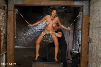 Photo number 10 from Unfuckingbelievable Soaking Wet Squirting Snatch and Huge Natural Tits shot for Hogtied on Kink.com. Featuring Serena Ali in hardcore BDSM & Fetish porn.
