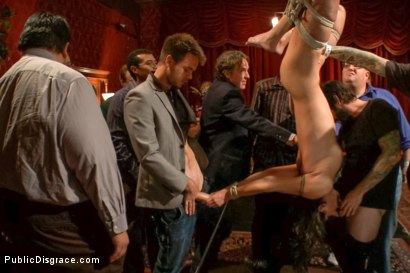 Photo number 4 from True bondage whore takes the pain shot for Public Disgrace on Kink.com. Featuring Wenona and Tommy Pistol in hardcore BDSM & Fetish porn.