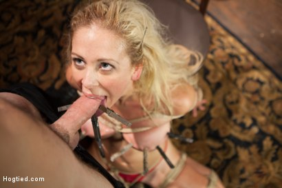 Photo number 2 from Gorgeous Big Tit Blonde Gets Fucked HARD in Tight Bondage shot for Hogtied on Kink.com. Featuring Cherie DeVille and Maestro in hardcore BDSM & Fetish porn.