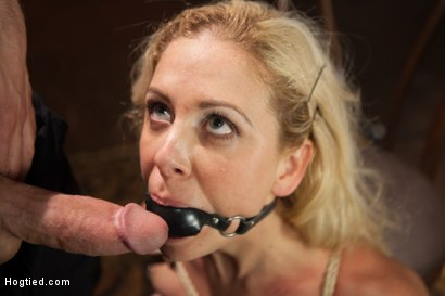 Photo number 5 from Gorgeous Big Tit Blonde Gets Fucked HARD in Tight Bondage shot for Hogtied on Kink.com. Featuring Cherie DeVille and Maestro in hardcore BDSM & Fetish porn.