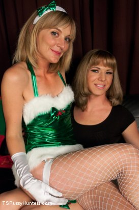 Photo number 1 from Christmas Can Go Fuck Itself Or She can Fuck the Xmas Elf w/her Cock shot for TS Pussy Hunters on Kink.com. Featuring Franchezka and Mona Wales in hardcore BDSM & Fetish porn.