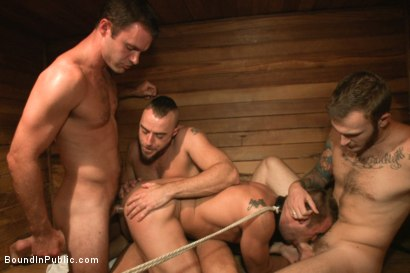 Photo number 13 from Bathhouse whore tormented and gang banged by a horny crowd shot for Bound in Public on Kink.com. Featuring Christian Wilde, Connor Patricks and Jessie Colter in hardcore BDSM & Fetish porn.