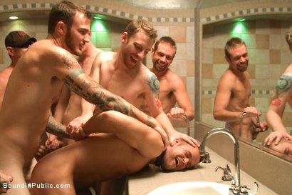 Photo number 11 from Hot ripped stud tormented and gang fucked at local sex club  shot for Bound in Public on Kink.com. Featuring Christian Wilde, Connor Patricks and Jessie Colter in hardcore BDSM & Fetish porn.