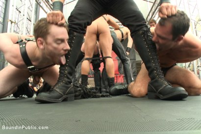 Photo number 1 from Sexy stud Cameron Kincade - The Folsom Street Whore shot for Bound in Public on Kink.com. Featuring Connor Maguire, Cameron Kincade and Jessie Colter in hardcore BDSM & Fetish porn.