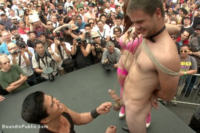 Photo number 5 from Sexy stud Cameron Kincade - The Folsom Street Whore shot for Bound in Public on Kink.com. Featuring Connor Maguire, Cameron Kincade and Jessie Colter in hardcore BDSM & Fetish porn.