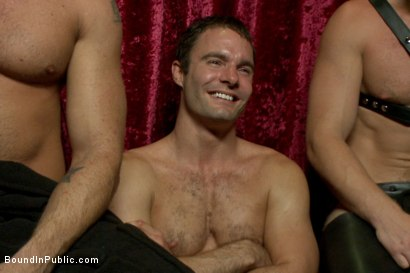 Photo number 15 from Sexy stud Cameron Kincade - The Folsom Street Whore shot for Bound in Public on Kink.com. Featuring Connor Maguire, Cameron Kincade and Jessie Colter in hardcore BDSM & Fetish porn.