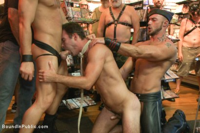 Photo number 10 from Sexy stud Cameron Kincade - The Folsom Street Whore shot for Bound in Public on Kink.com. Featuring Connor Maguire, Cameron Kincade and Jessie Colter in hardcore BDSM & Fetish porn.